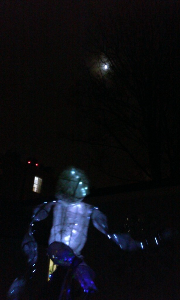 Moon and giant puppet