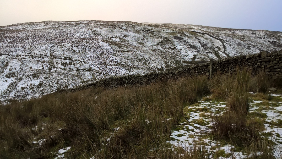 Frozen fell in Yorkshire Dales