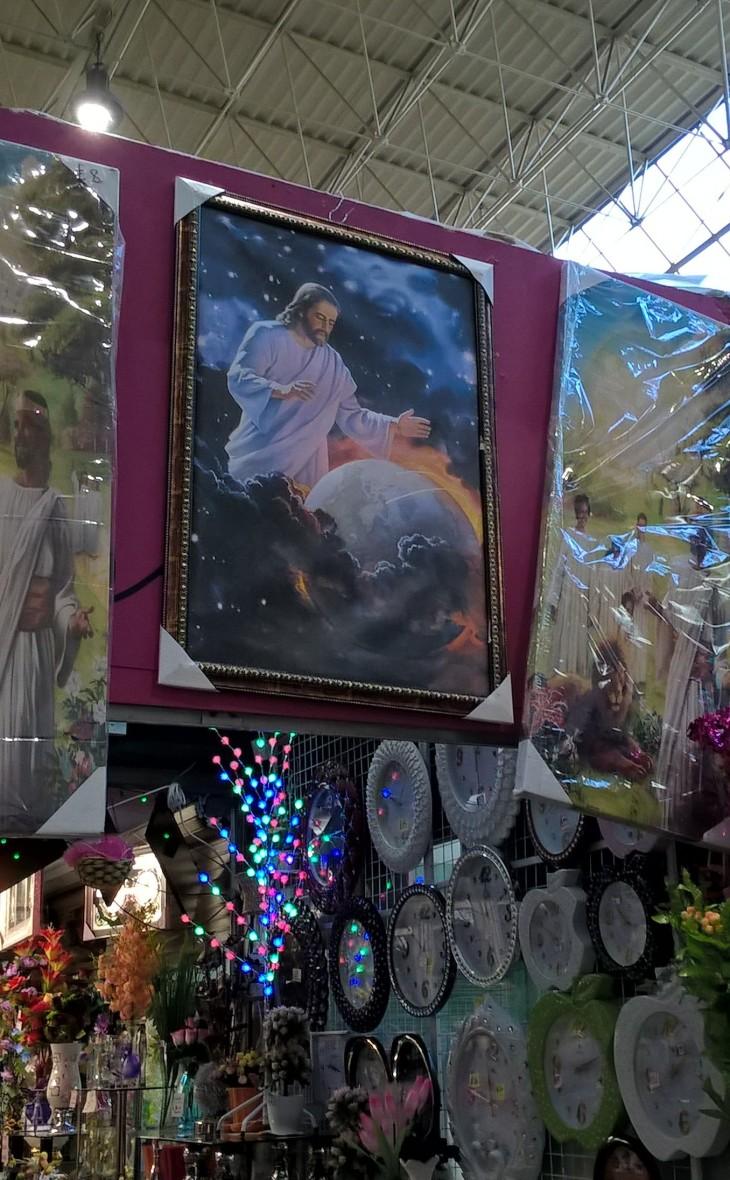 Painting in Leeds Market
