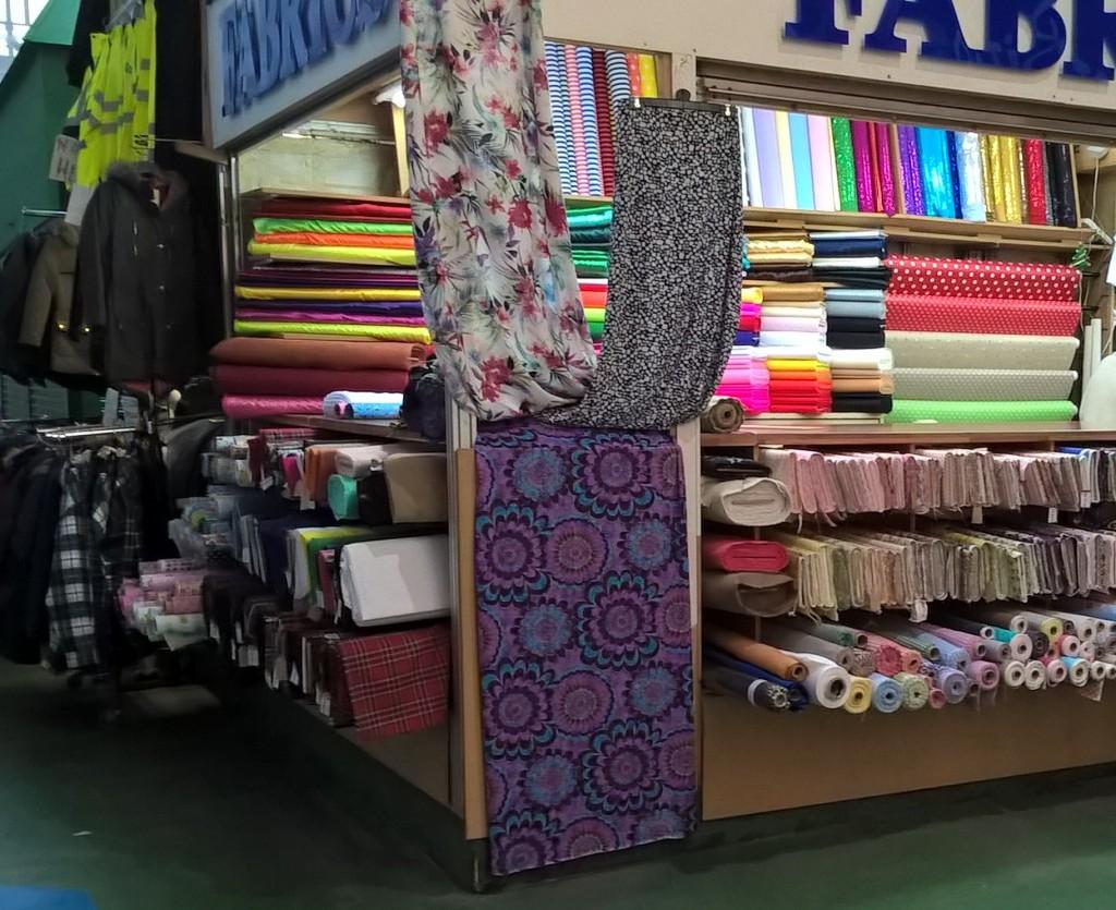 Fabric Stall Leeds Market